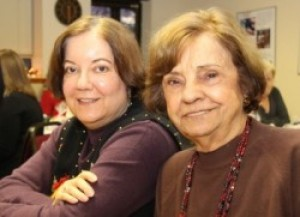 Susan Ament, Peer Support Program Coordinator with her mother and member, Ruth Ament