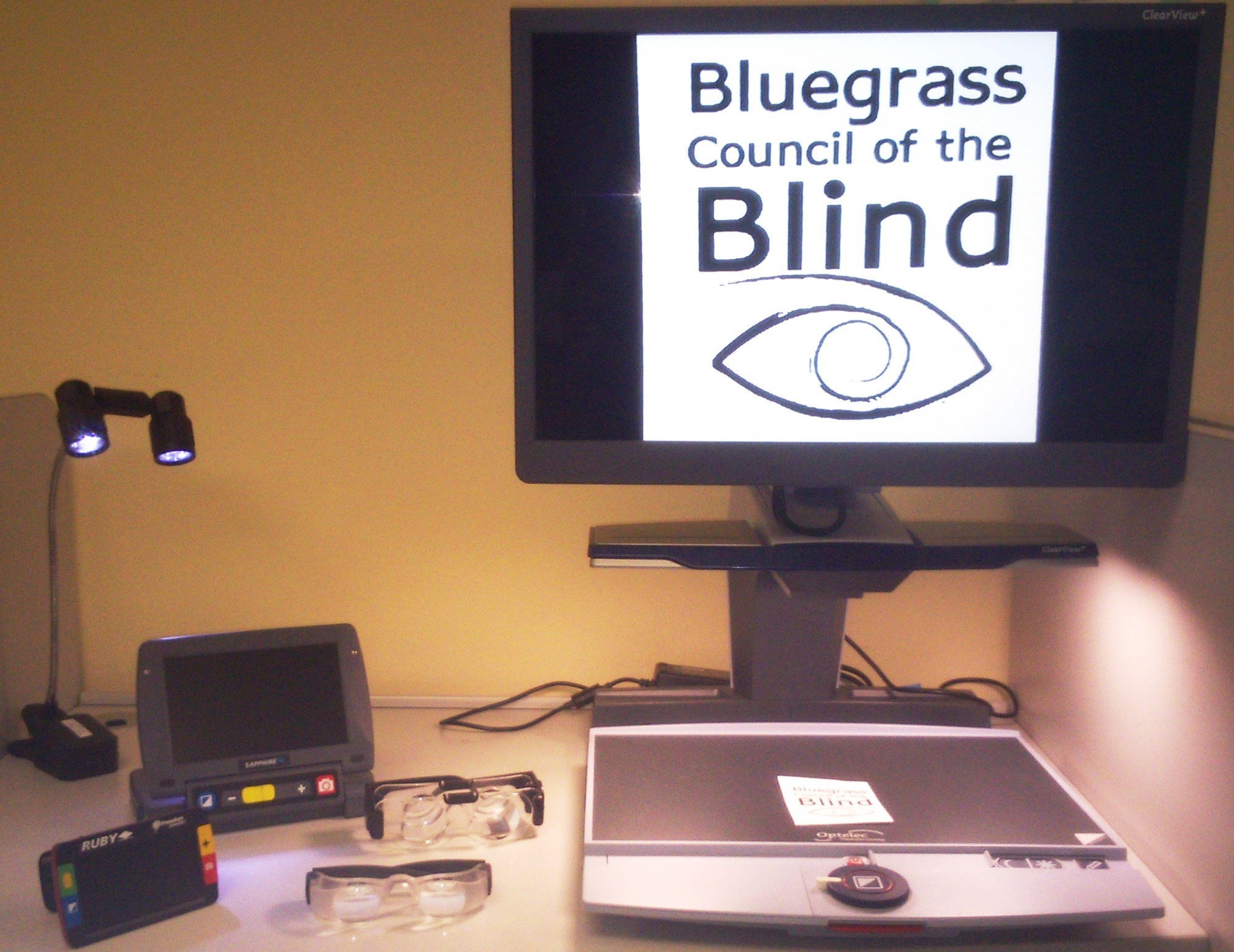 BCB logo on a CCTV, making it larger and easier for some with low vision to read